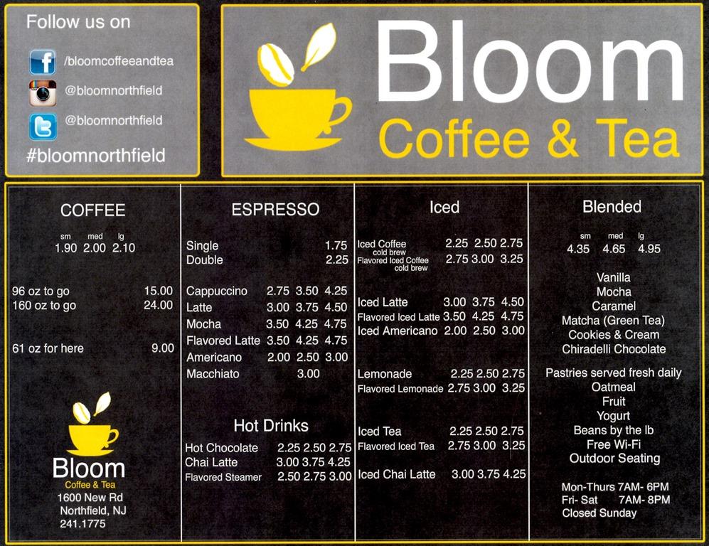 Bloom Coffee And Tea Northfield Nj